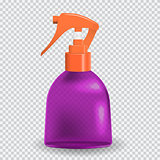 Colorful naturalistic Bottle with spray. Vector Illustration.