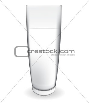 Abstract Milk Glass on White Background Vector Illustration