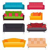 Sofa Icon Set Vector Illustration
