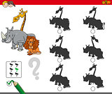 shadow activity game with animal characters