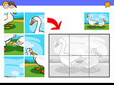 jigsaw puzzles with goose and Duck farm birds