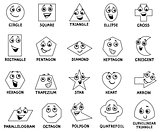 cartoon basic geometric shapes characters