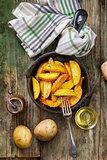 Fried Potatoes. Food.