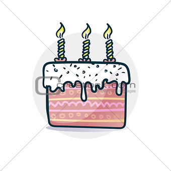 Cake with candles sticker