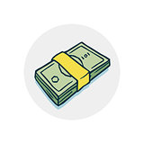 bundle of money icon
