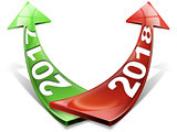 2017 2018 Red and Green Arrows - New Year
