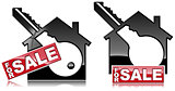 Symbols of Houses For Sale with a Key