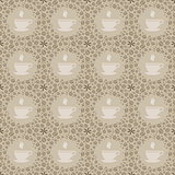 Seamless beige background with coffee motives