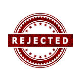 Rejected Stamp Icon Sign
