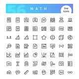 Math Line Icons Set