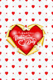 Valentines card with the inscription