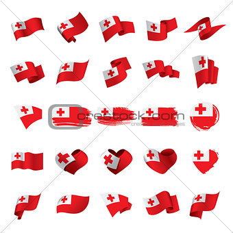 Tonga flag, vector illustration