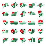 Abkhazia flag, vector illustration