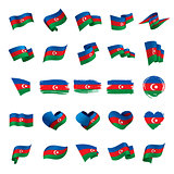 Azerbaijan flag, vector illustration