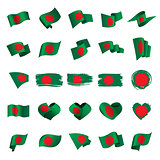 Bangladesh flag, vector illustration