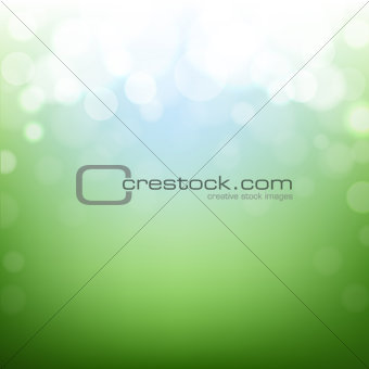 Green Nature Background With Bokeh