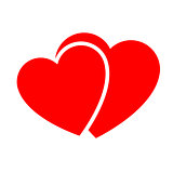 Two hearts. Web icon