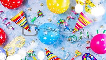 Bright colorful carnival or party scene