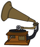 The vintage gramophone