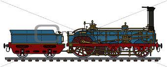 The historical steam locomotive