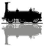 The historical steam locomotive