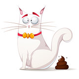 Funny, cute cat illustration.