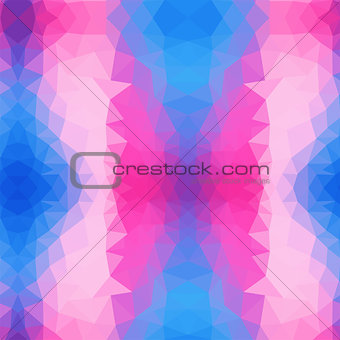 Light Pink, Blue vector polygonal illustration, which consist of triangles. Triangular pattern for your business design. Geometric background in Origami style with gradient.