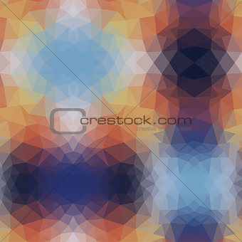 abstract pattern of blue and beige triangles