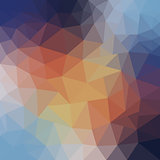 abstract background of blue and beige triangles