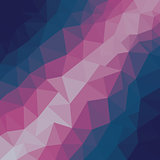 Dark Pink Blue Low poly crystal background. Polygon design pattern. Low poly vector illustration, low polygon background.