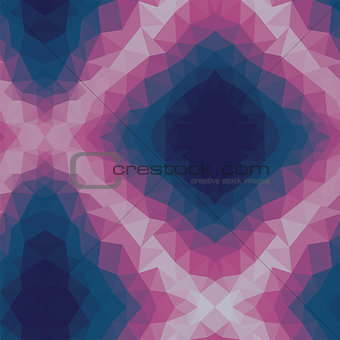 Dark Pink Blue Low poly crystal Pattern. Polygon design pattern. Low poly vector illustration, low polygon background.