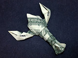 Money Origami Lobster Cash Dollar Art