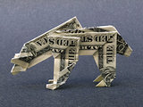 Money Origami Polar Bear Cash Dollar Art