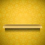 Empty Yellow Shelf