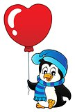 Cute Valentine penguin theme image 1