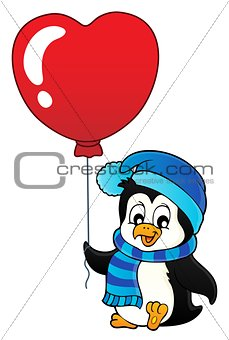 Cute Valentine penguin theme image 1