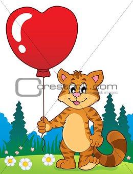 Valentine cat theme image 2