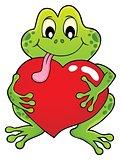 Valentine frog theme image 1