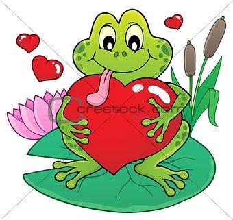 Valentine frog theme image 2