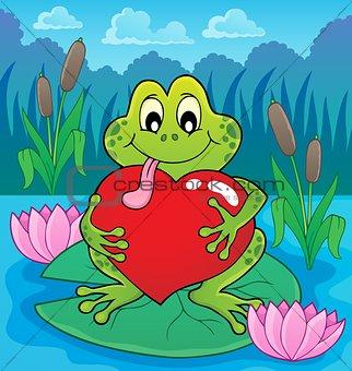 Valentine frog theme image 4
