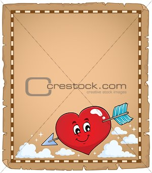 Valentine heart topic parchment 1