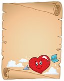 Valentine heart topic parchment 2