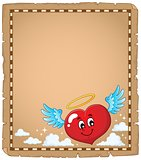 Valentine heart topic parchment 3