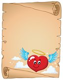 Valentine heart topic parchment 4