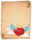 Valentine heart topic parchment 4
