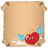 Valentine heart topic parchment 5