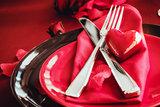 Valentines dinner setting