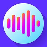 sound waves vector icon sound Icon Vector. sound icon.