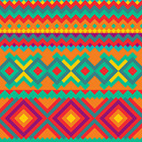 Ethnic vector pattern with geometric shapes.