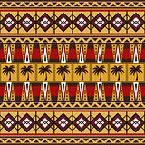 Vector seamless pattern with tribal African motifs.